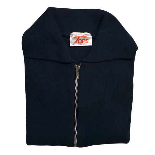 Jumper with Front Zip and Collar VJUA16-navy