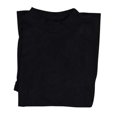 100% Cotton Turtle Neck 3/4 Sleeve - VPLA83-black