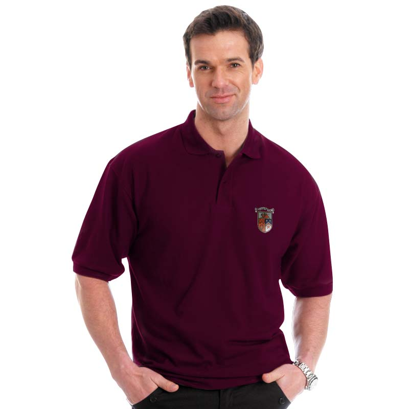 210g 50/50 PC Mid-Weight Bell Baxter Pique Polo - TPA02-sweat-burgundy