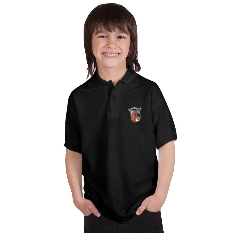 210g 50/50 PC 'BELL BAXTER' Hi Spec Kids Premium PoloTPK02BB-polo-black