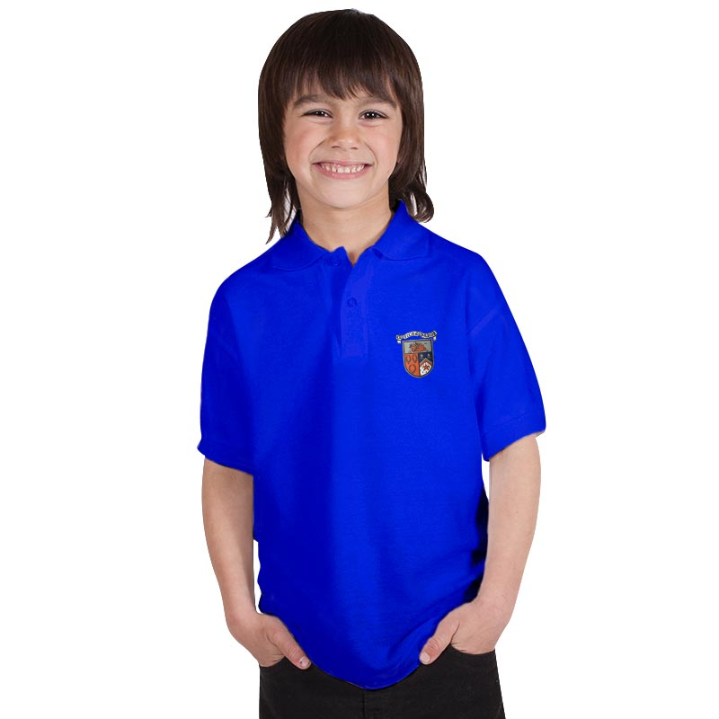 210g 50/50 PC 'BELL BAXTER' Hi Spec Kids Premium PoloTPK02BB-polo-royal