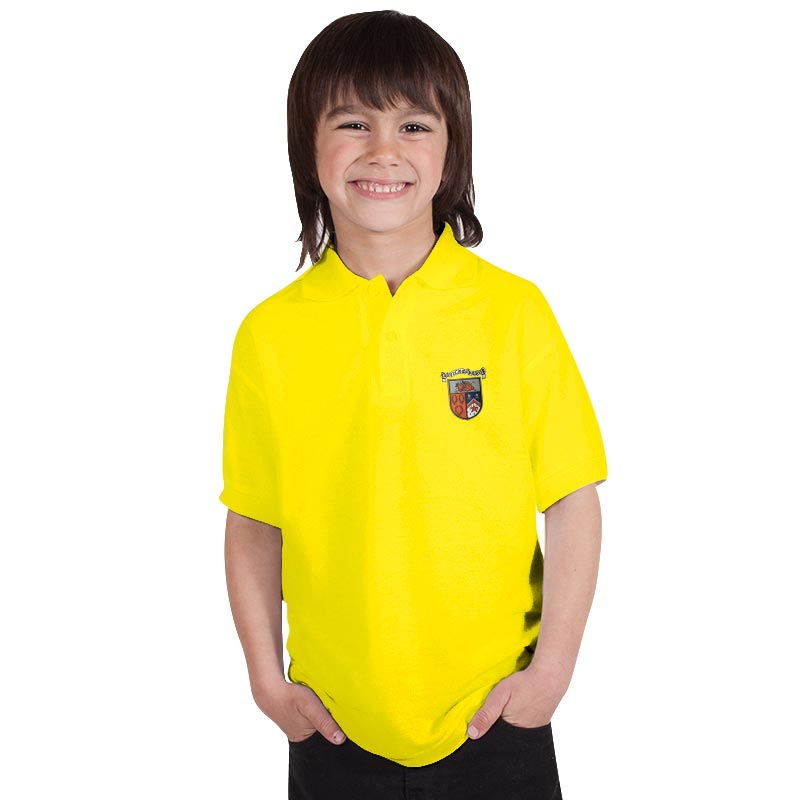210g 50/50 PC 'BELL BAXTER' Hi Spec Kids Premium Polo - TPK02BB-polo-sunflower