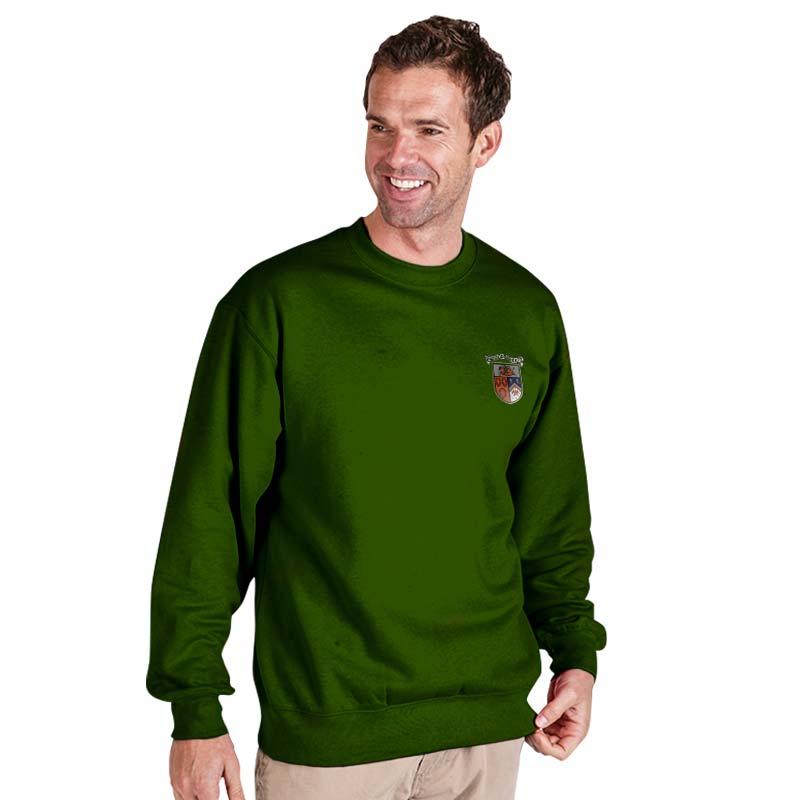 300g 70/30 CP Premium Hi-Spec Set-In Bell Baxter Crew SweatshirtTSA01-sweat-bottlegreen