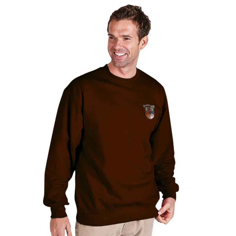 300g 70/30 CP Premium Hi-Spec Set-In Bell Baxter Crew SweatshirtTSA01-sweat-brown