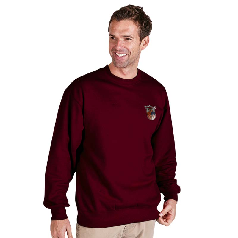 300g 70/30 CP Premium Hi-Spec Set-In Bell Baxter Crew SweatshirtTSA01-sweat-burgundy