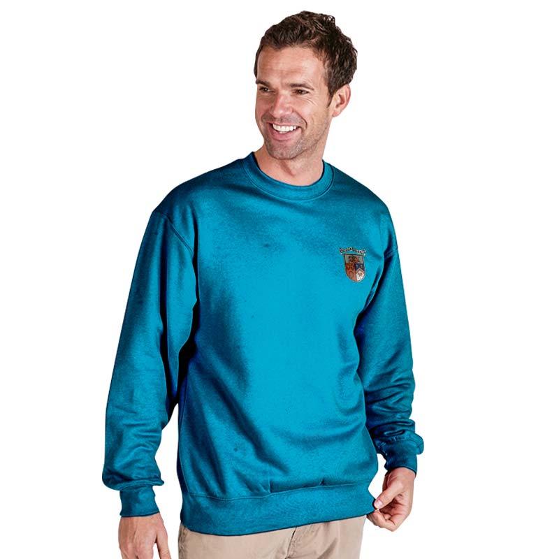 300g 70/30 CP Premium Hi-Spec Set-In Bell Baxter Crew SweatshirtTSA01-sweat-electric-blue