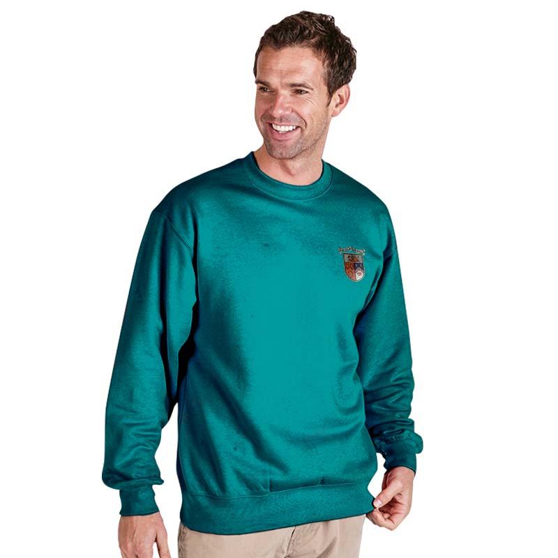 300g 70/30 CP Premium Hi-Spec Set-In Bell Baxter Crew SweatshirtTSA01-sweat-emerald