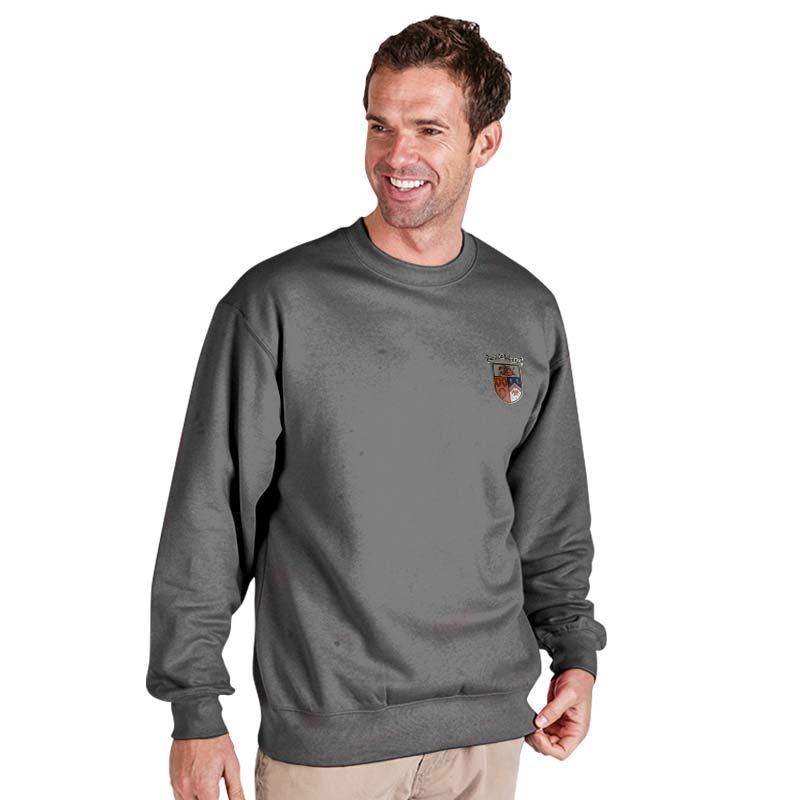 300g 70/30 CP Premium Hi-Spec Set-In Bell Baxter Crew SweatshirtTSA01-sweat-heather-grey
