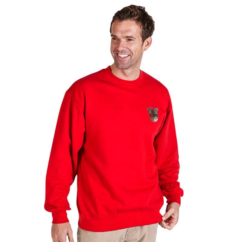 300g 70/30 CP Premium Hi-Spec Set-In Bell Baxter Crew SweatshirtTSA01-sweat-red