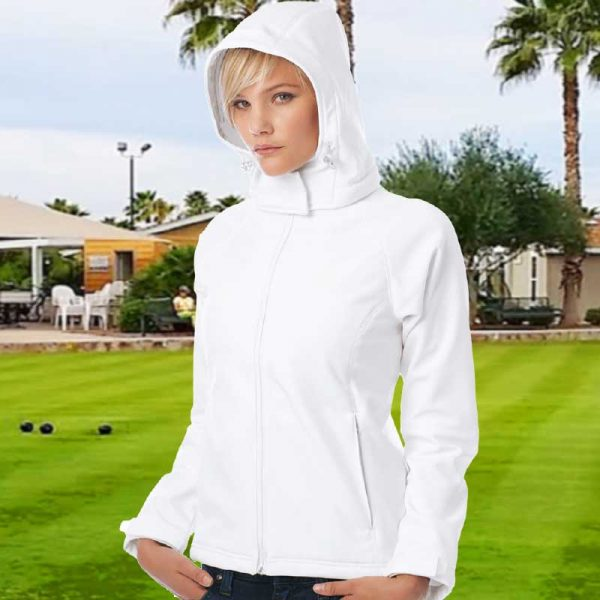Ladies Hooded Softshell Bowling Jacket - BA630FBOWLS