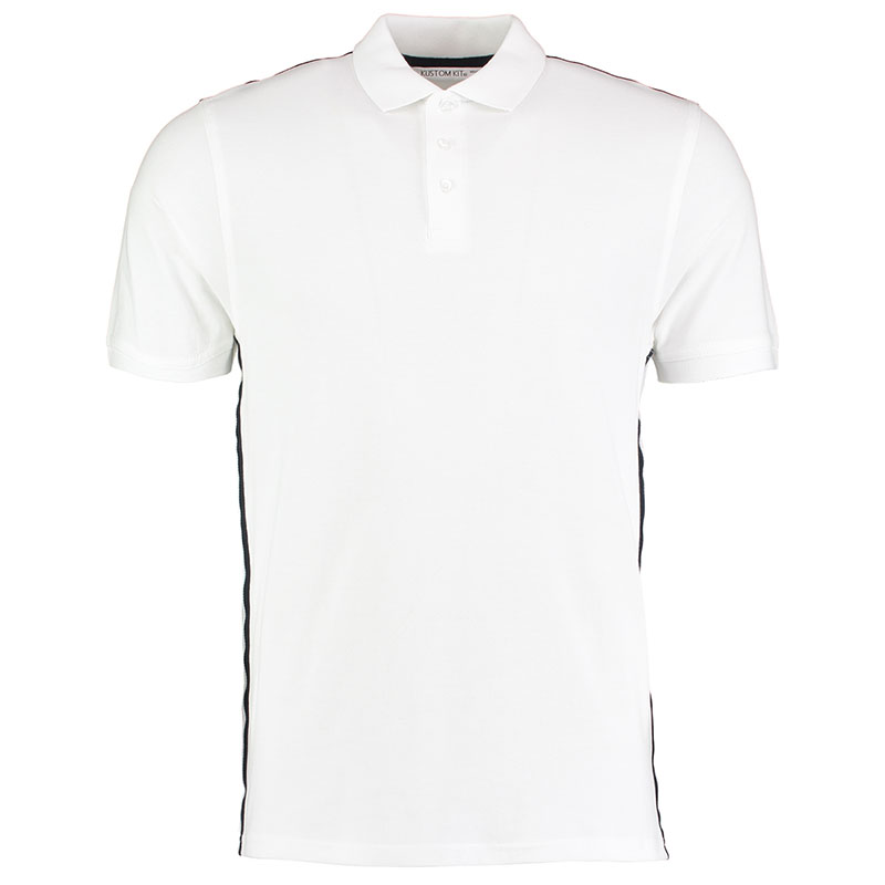 210gsm 100% Cotton Slim Fit Team Style Bowls Polo - KK603BOWLS-white-navy