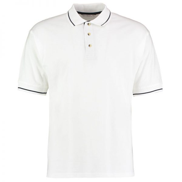 210gsm 100% Cotton Mens St Mellion Bowls Polo - KK606BOWLS-white-navy