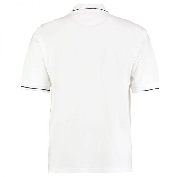 210gsm 100% Cotton Mens St Mellion Bowls Polo - KK606BOWLS-white-navy-back