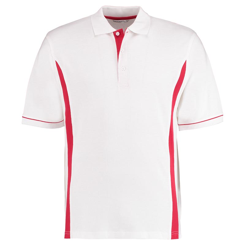 210gsm 100% Cotton Scottsdale Bowls Polo - KK617whitered_front
