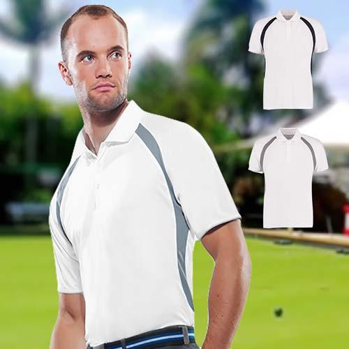 140gsm 100% Polyester Riviera Contrast Raglan Bowling Polo - KK974BOWLS