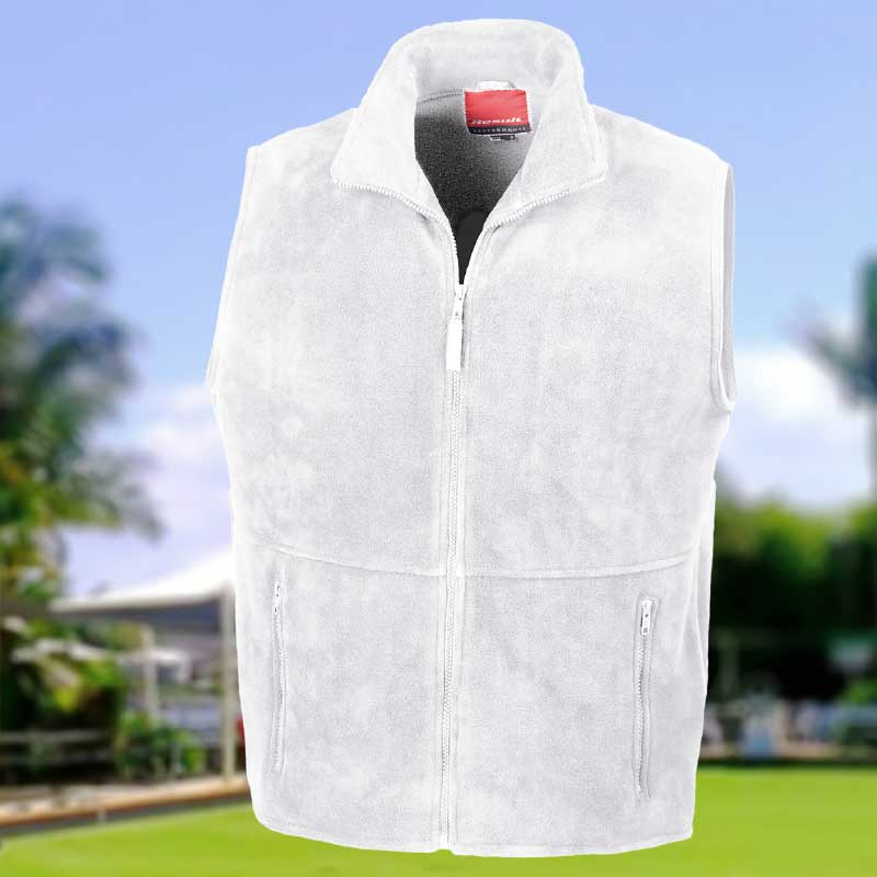 330gsm 100% Polyester Active Fleece Bowling Polartherm Bodywarmer - R37XBOWLS18