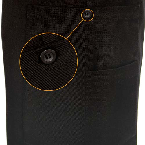 Mens Police Poly-Wool Trousers with thigh pockets - WTRPA48-details1