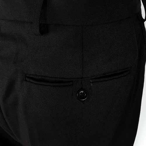 Ladies Police Poly-Wool Trousers Black - WTRPA51-details3