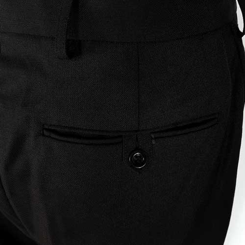 Ladies Police Poly-Wool Trousers Black - WTRPA52-Details3