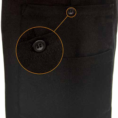 Ladies Police Poly-Wool Trousers Black - WTRPA52-Details5