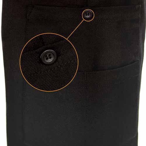 Ladies Police Poly-Wool Trousers Black - WTRPA52-Details5