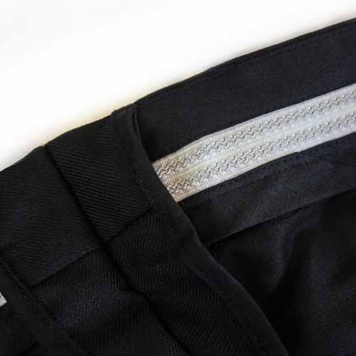 Ladies Police Poly-Cotton Trousers Black with thigh pockets - WTRPA54-details3