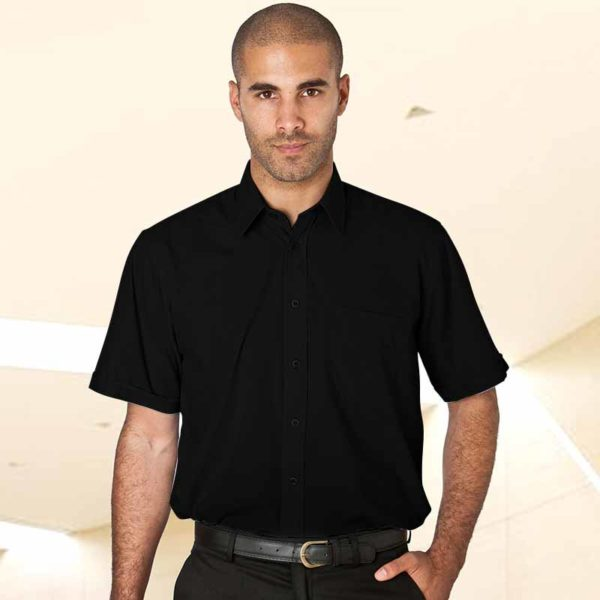 110gsm Classic 65/35 PC Shirt Short Sleeve - WSHA02-black