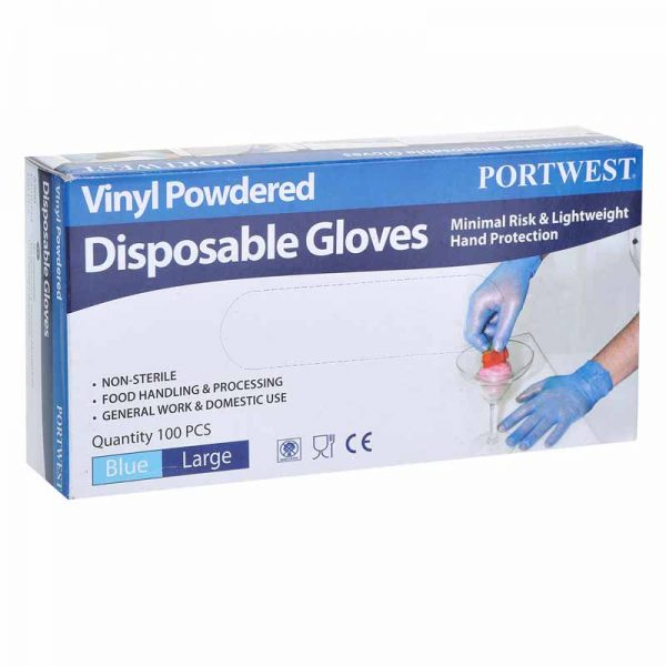 Powdered Vinyl Disposable Glove - A900BLU_1
