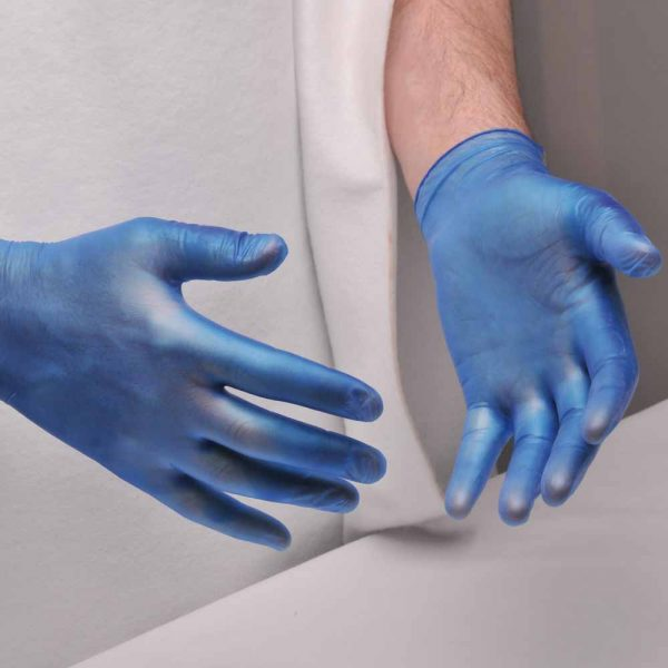 Powdered Vinyl Disposable Glove - A900BLU_LS_1