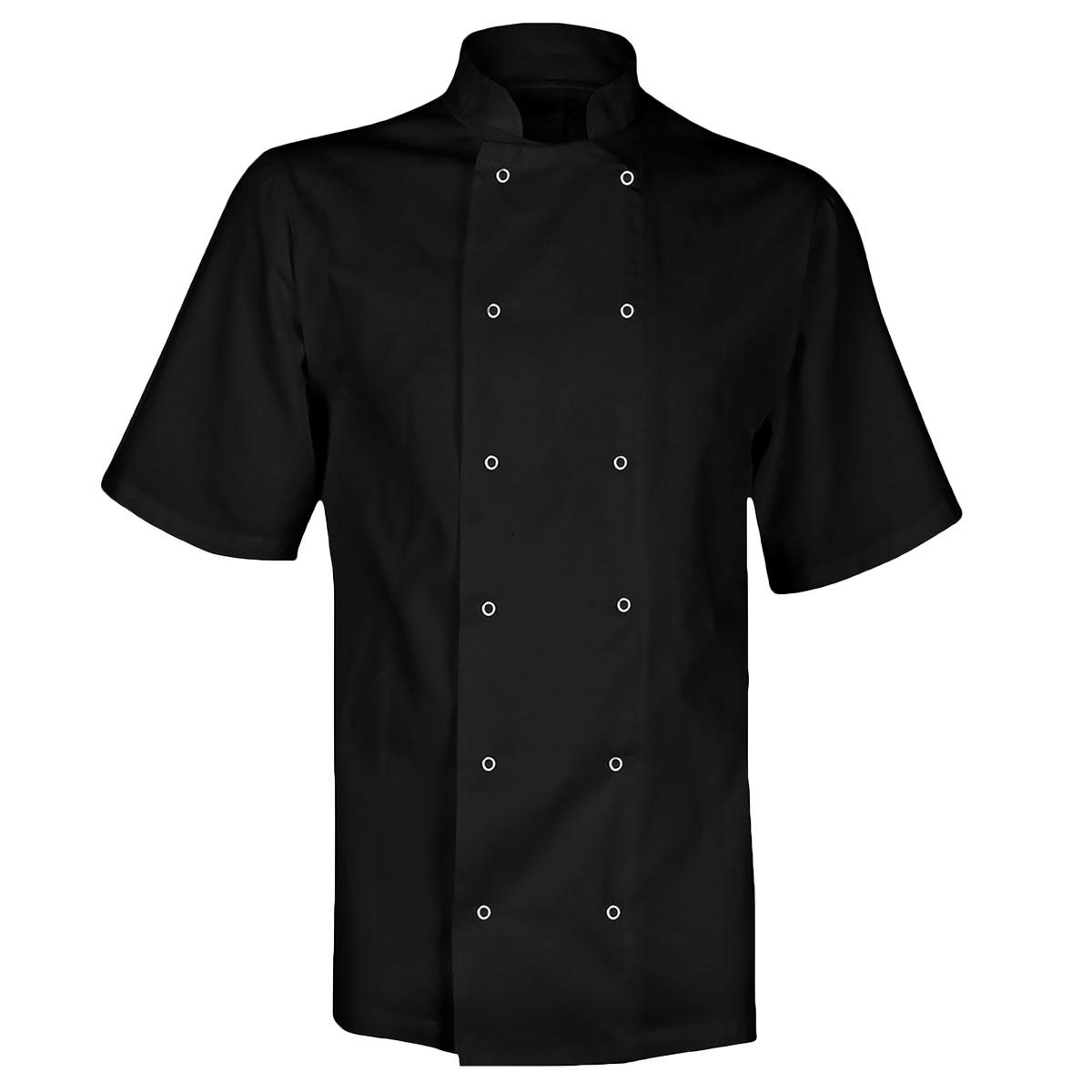 Value Chefs Jacket Unisex Short Sleeve - CCJ1-BLACK