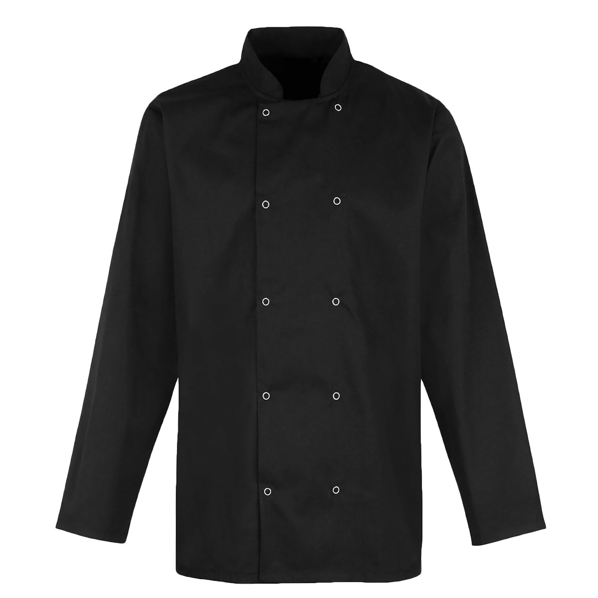 Value Chefs Jacket Unisex Long Sleeve - CCJ2-Black