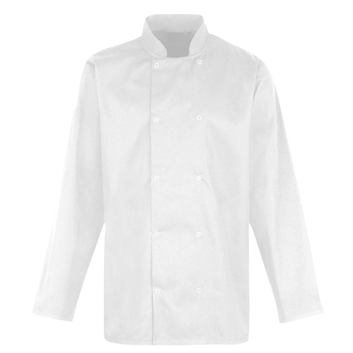 Value Chefs Jacket Unisex Long Sleeve - CCJ2-White