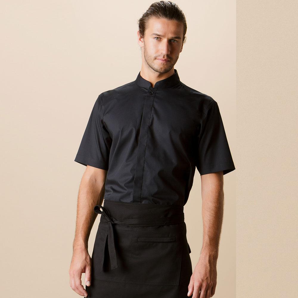 Mandarin Collar Hospitality Shirt Short Sleeve - KK122