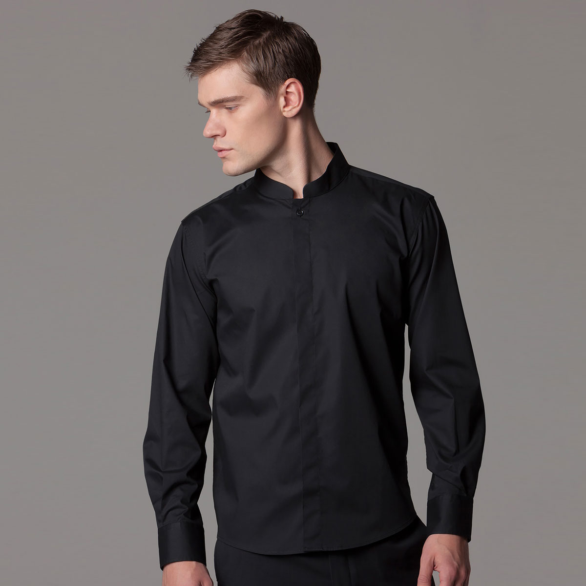 Mandarin Collar Hospitality Shirt Long Sleeve - KK123