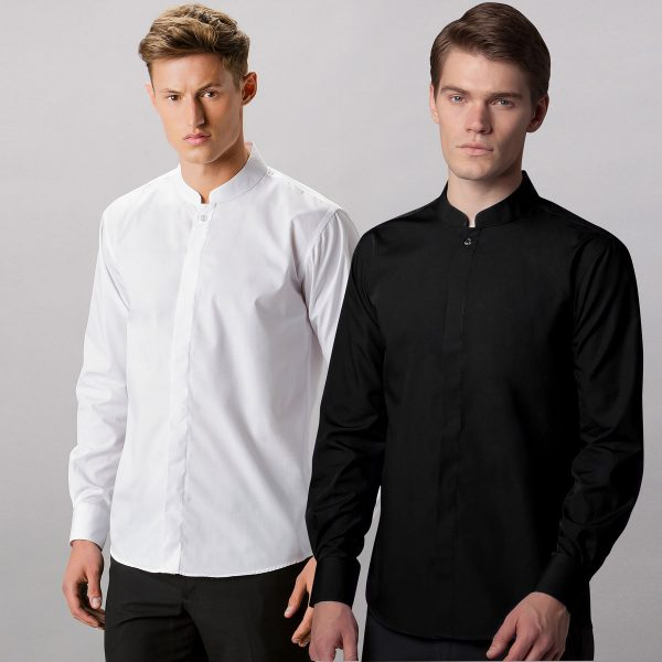 Mandarin Collar Shirt Long Sleeve - KK161