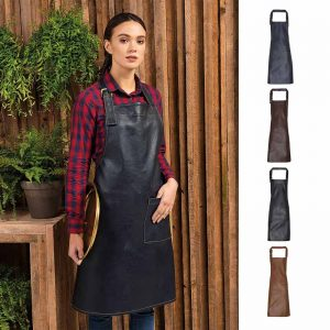 Faux Leather Bib Apron - PR139_NAVY2