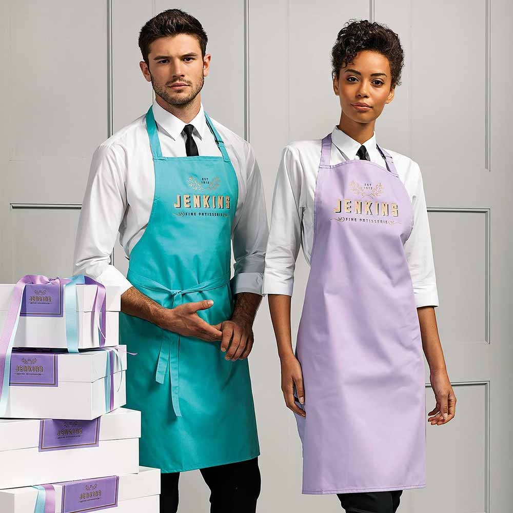 Colours Collection Bib Apron - PR150_DUCKEGG_LILAC-modl