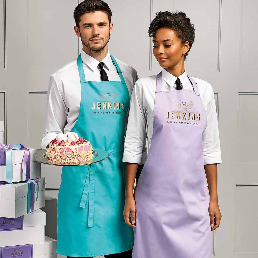 Colours Collection Bib Apron - PR150_DUCKEGG_LILAC2model