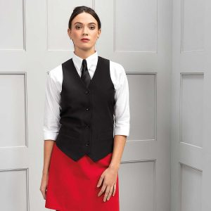 Ladies Lined Polyester Waistcoat - PR623