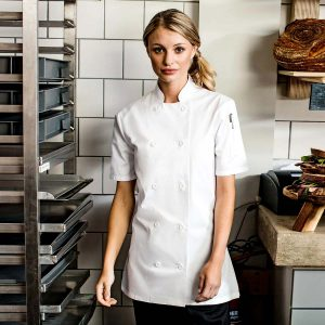 Ladies Short Sleeve Chef's Jacket - PR670
