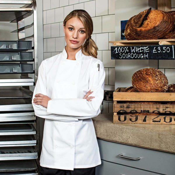Ladies Long Sleeve Chef's Jacket - PR671