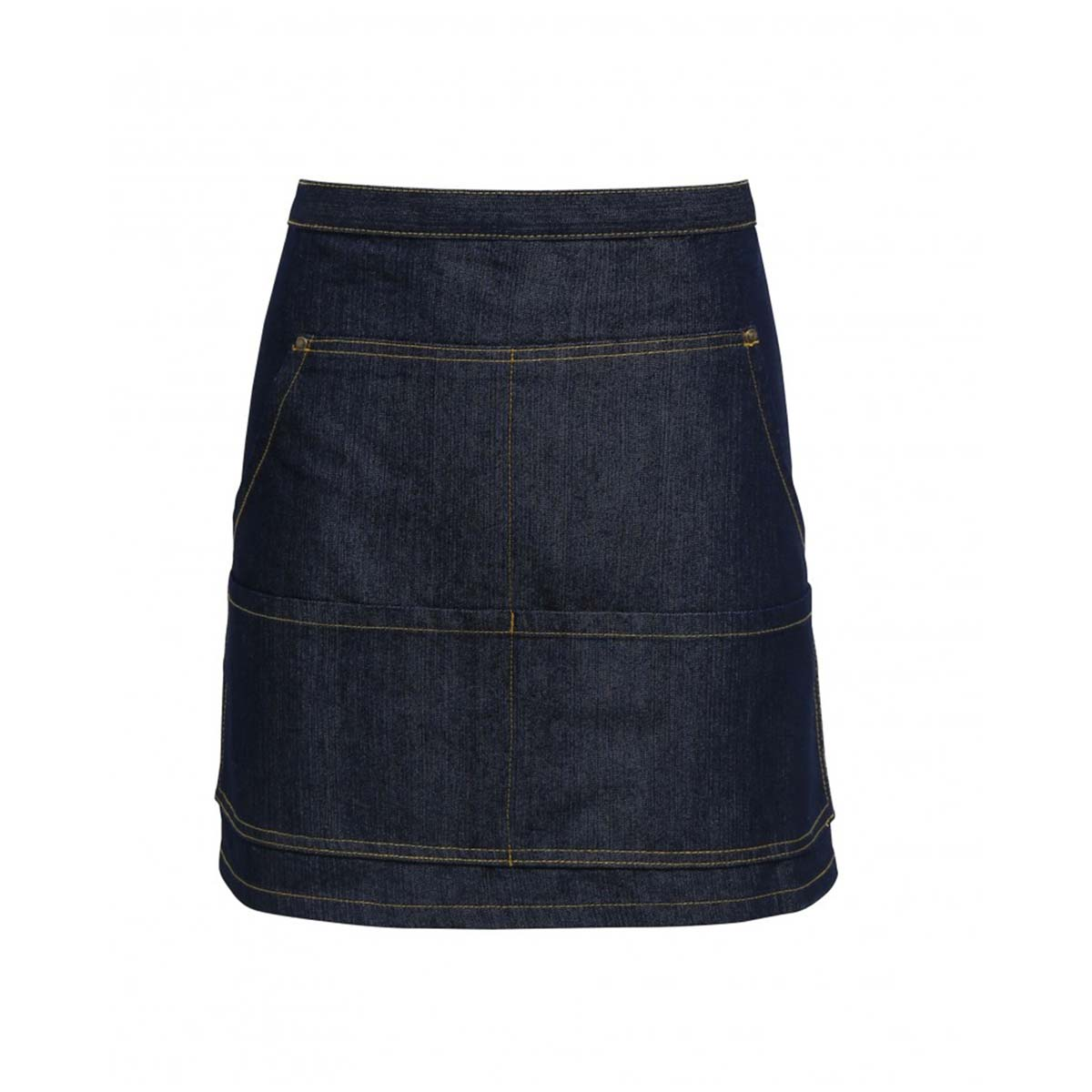 Jeans Stitch Denim Waist Apron - pr125-indigo-denim_1