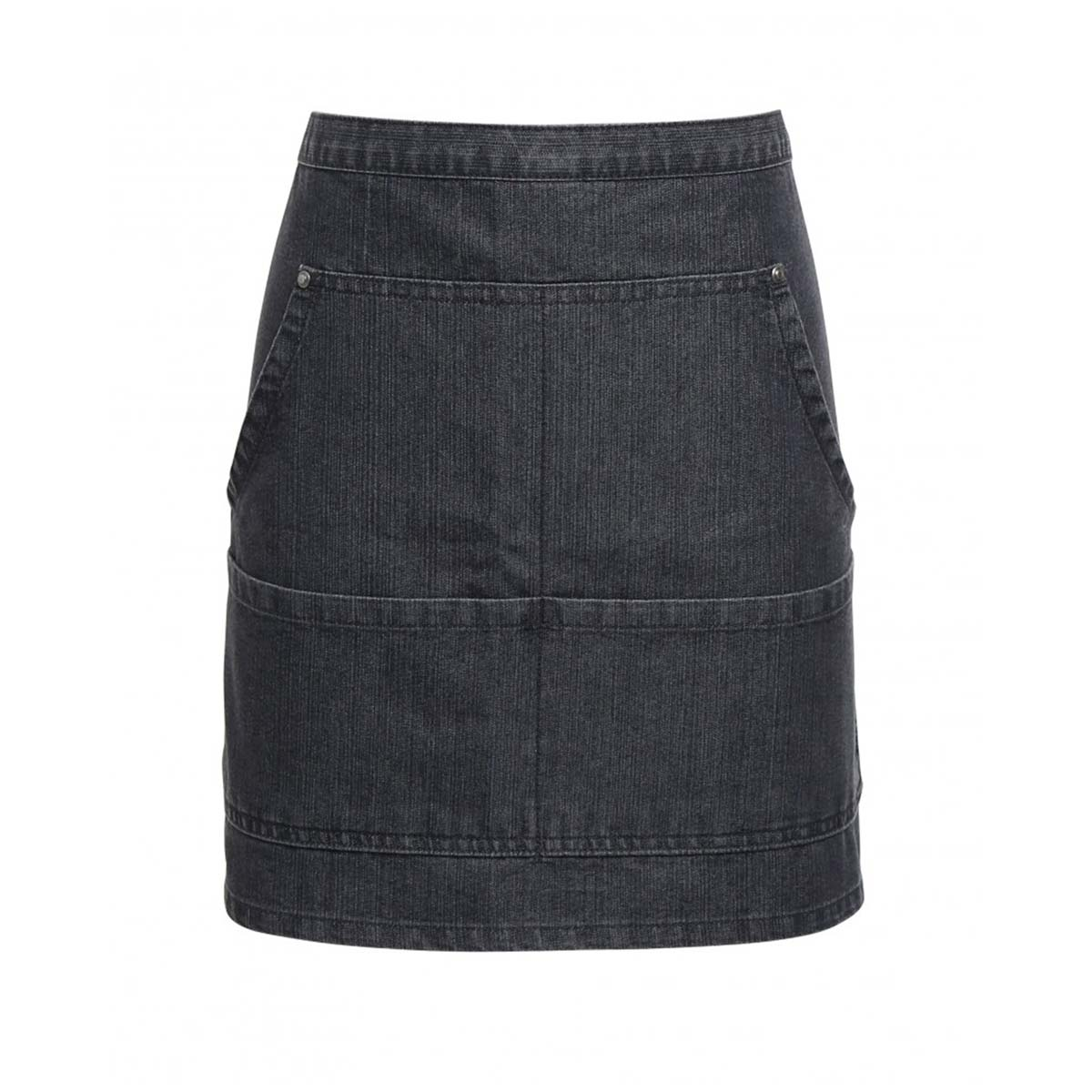 Jeans Stitch Denim Waist Apron - pr125_black-denim