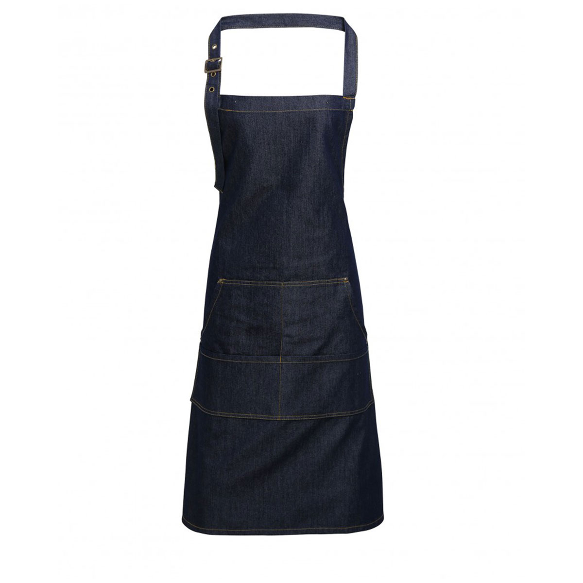 Jeans Stitch Denim Bib Apron - pr126_indigo-denim