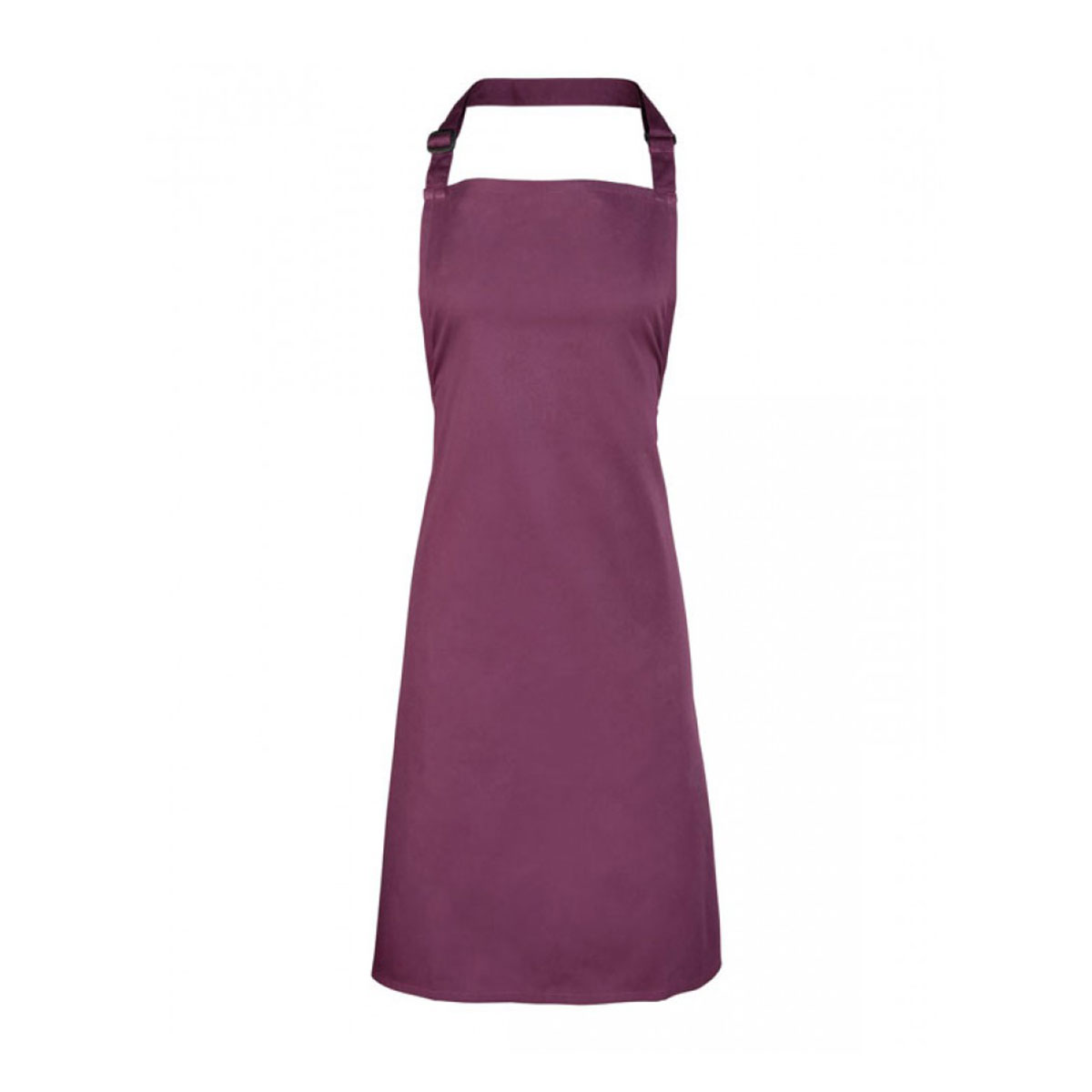 Colours Collection Bib Apron - pr150-aubergine