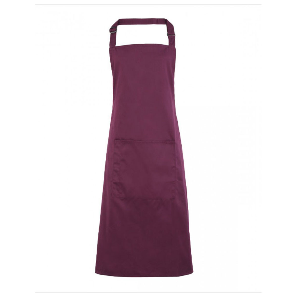 Colours Bib Apron with Pocket - pr154-aubergine