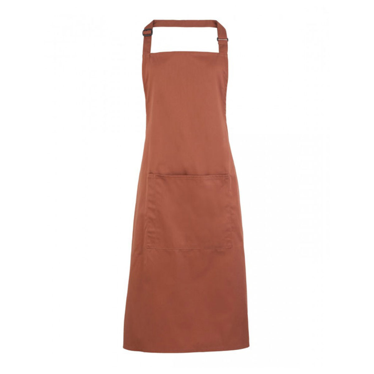 Colours Bib Apron with Pocket - pr154-chestnut