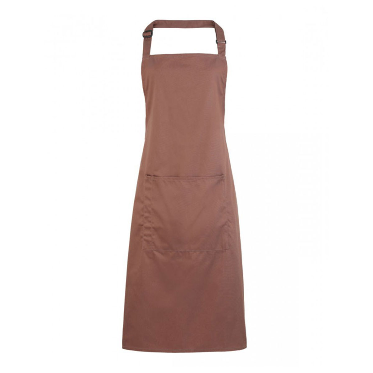 Colours Bib Apron with Pocket - pr154-mocha