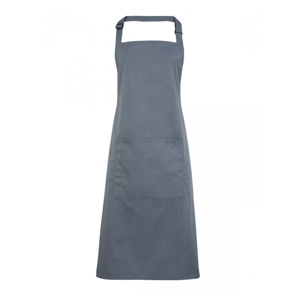 Colours Bib Apron with Pocket - pr154-steel