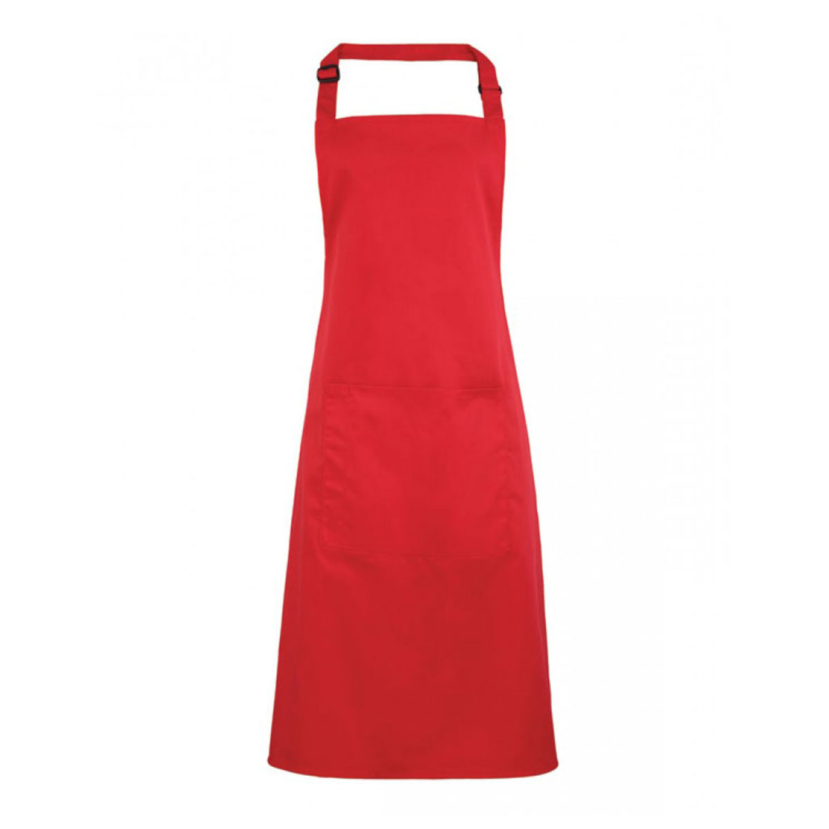 Colours Bib Apron with Pocket - pr154-strawberry-red